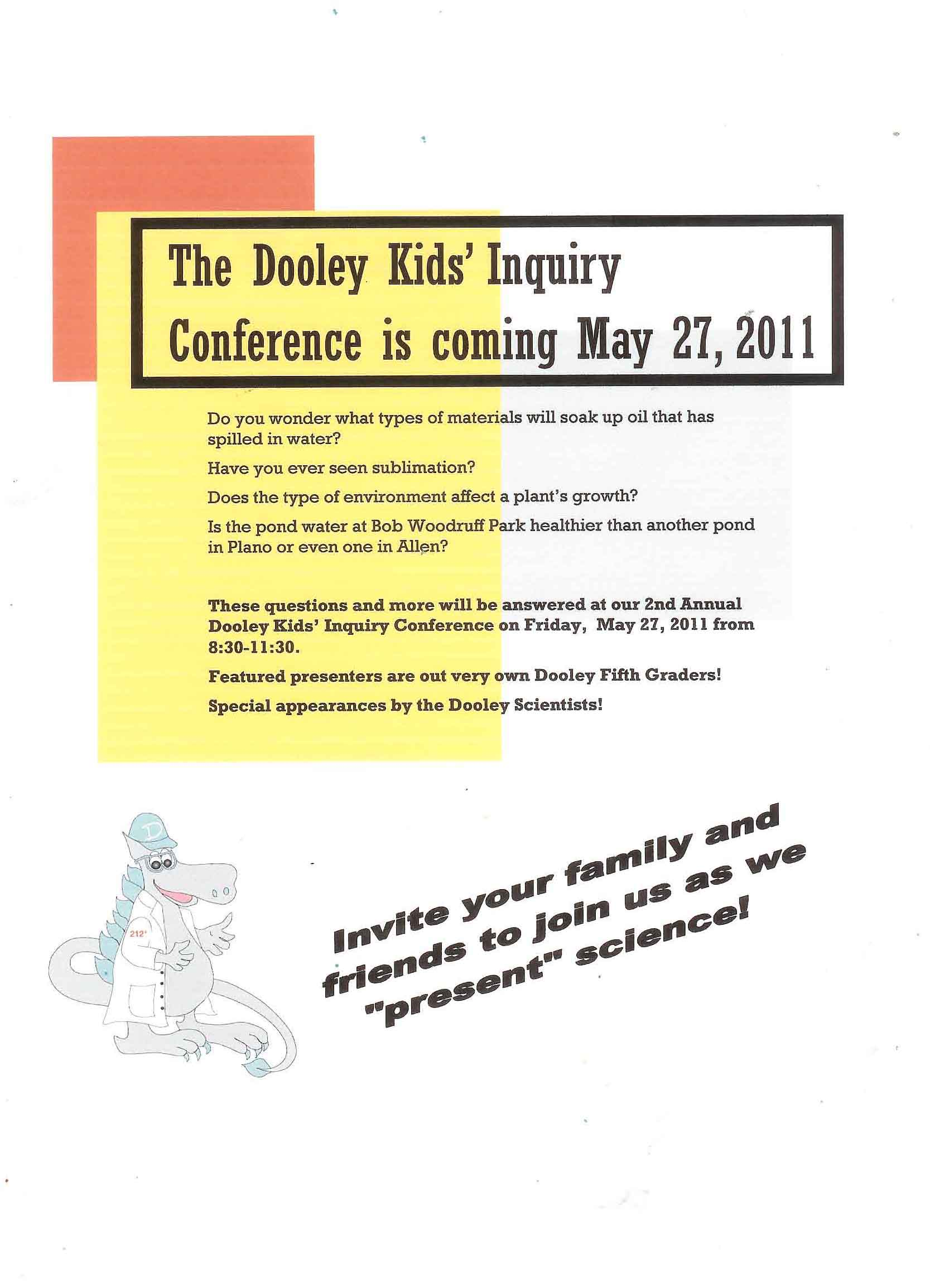 Kid's Inquiry Conference