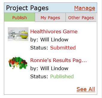 Project Pages